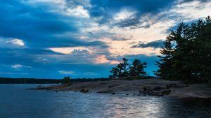 Evening dusk image