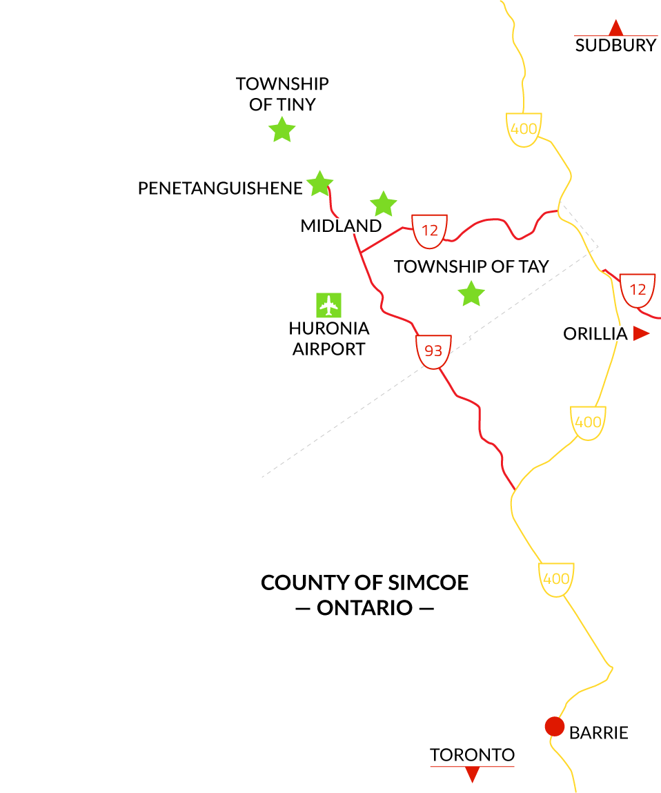 North Simcoe map image